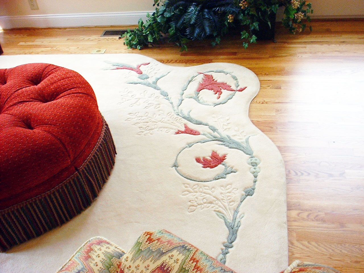 Custom rug with fine attention to detail