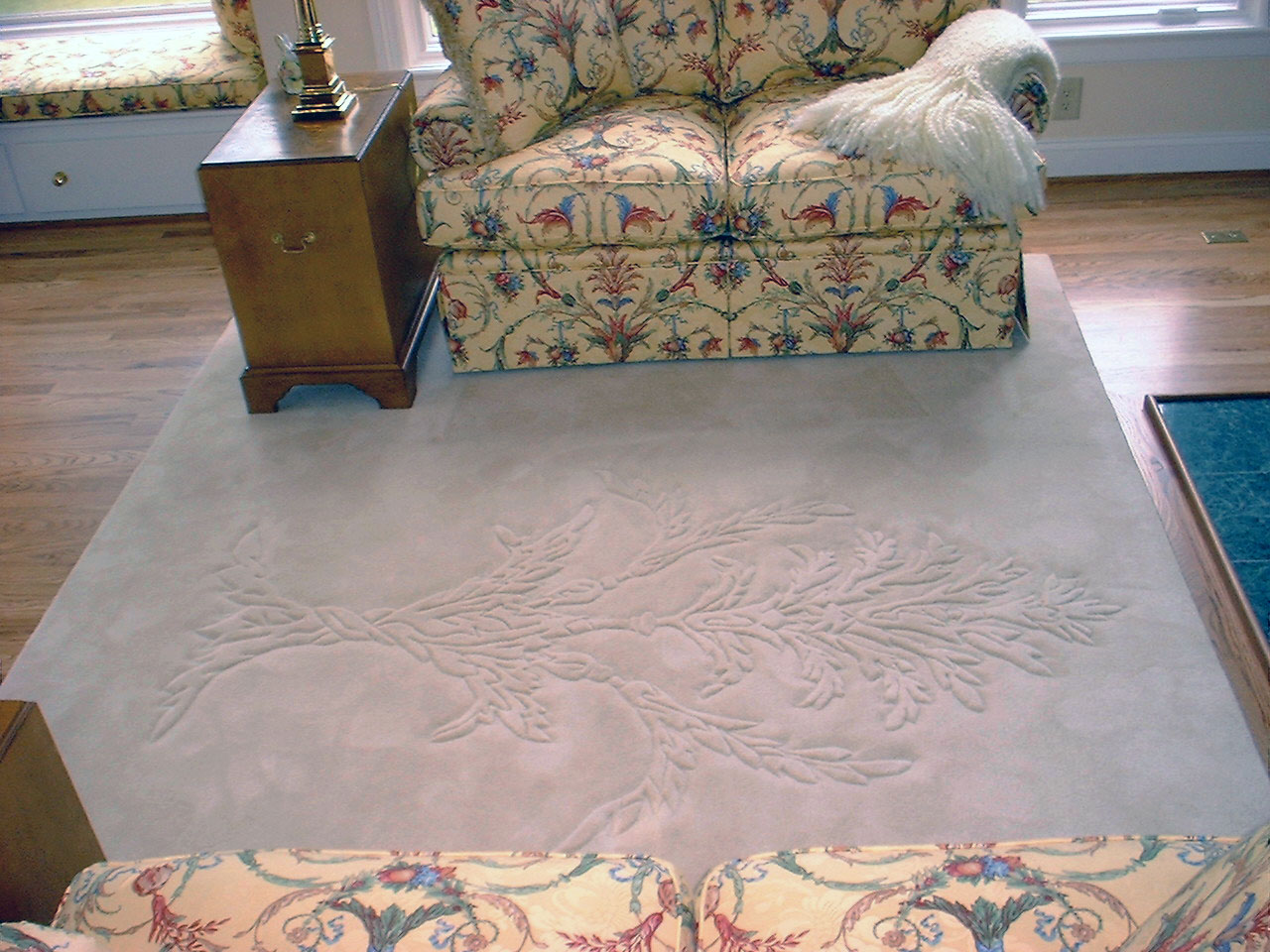 "Although the customer chose to place this rug on the floor, it's obvious that David's work is definitely ""wall"" worthy."